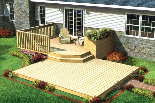 construção de deck