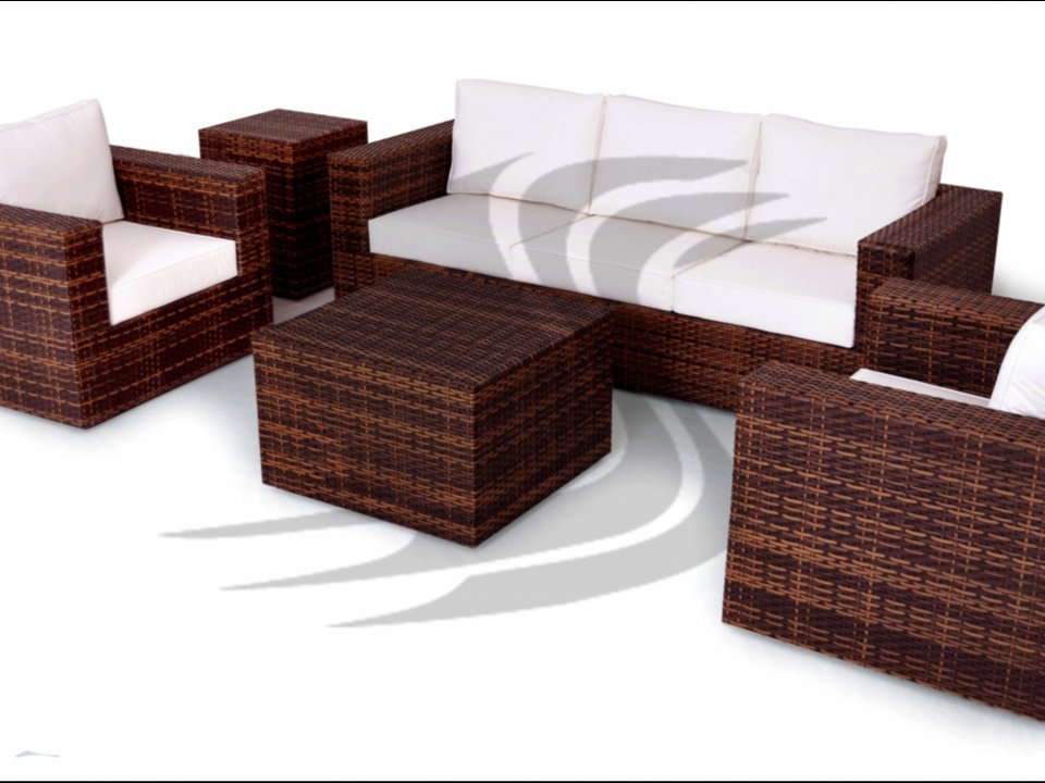 Jogo sofa em aluminio com fibra sintetica (varias