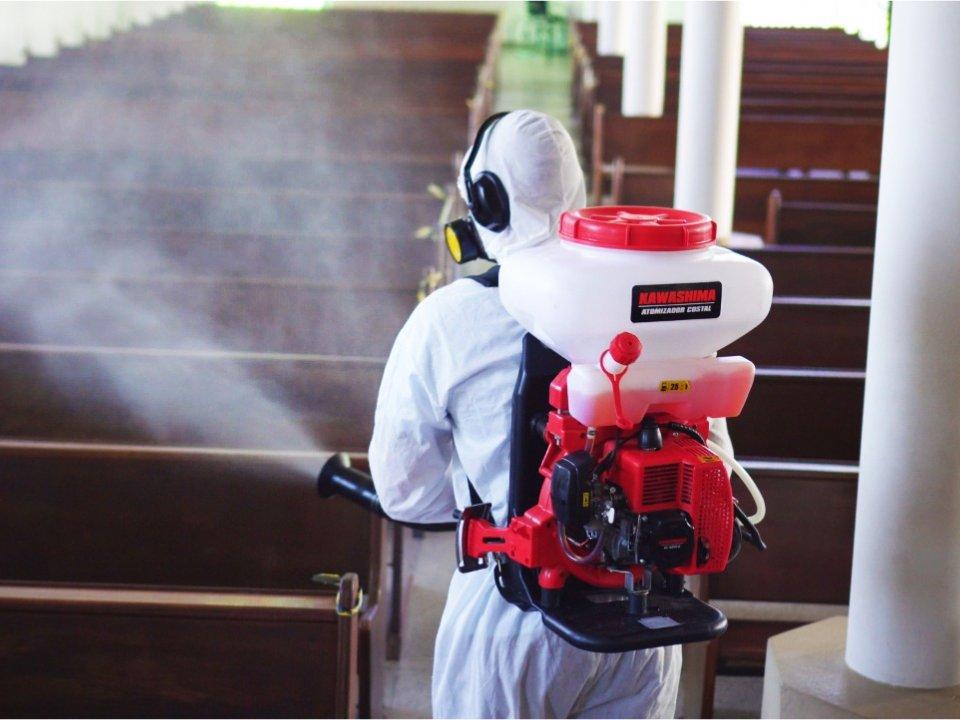 Sanitização de ambientes para Covid-19.