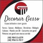 DECORAR GESSO